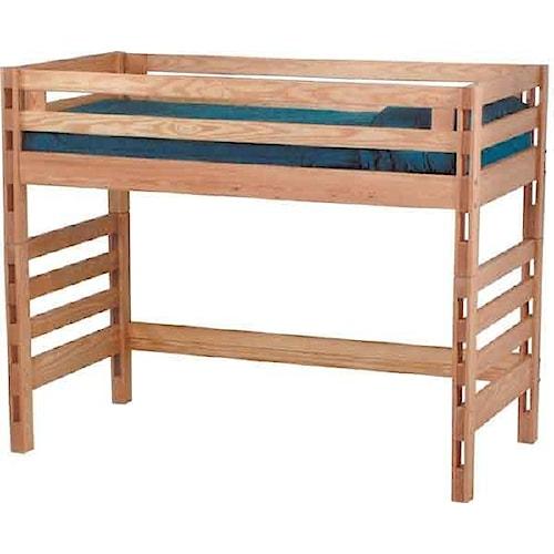 Crate Designs Pine Bedroom Casual Twin Loft Bed