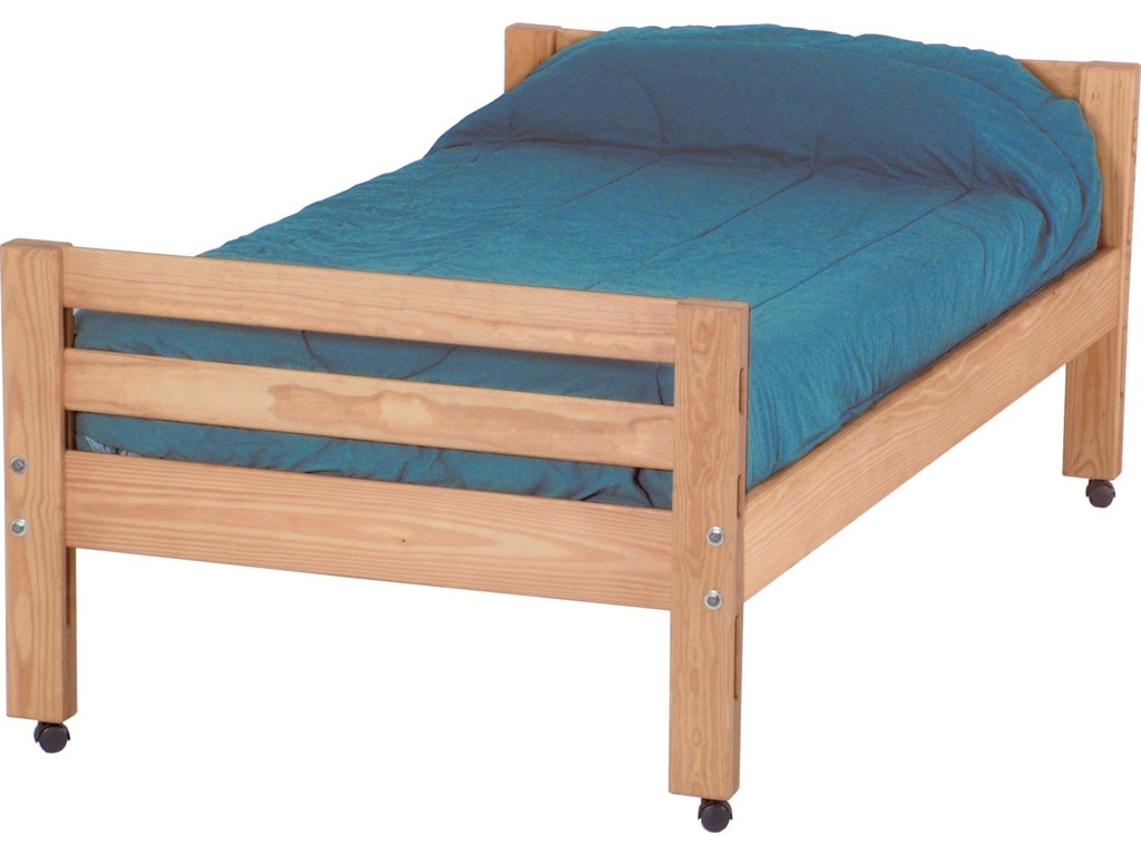 Crate Designs Pine BedroomTwin Caster Bed