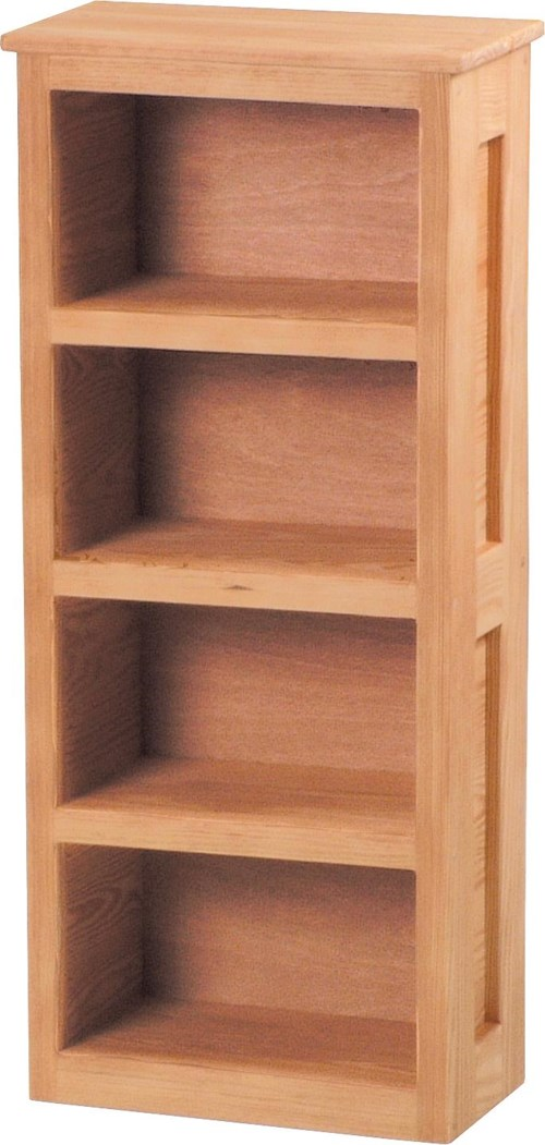 Crate Designs Pine Bedroom Casual Loft Bookcase with 4 Shelves