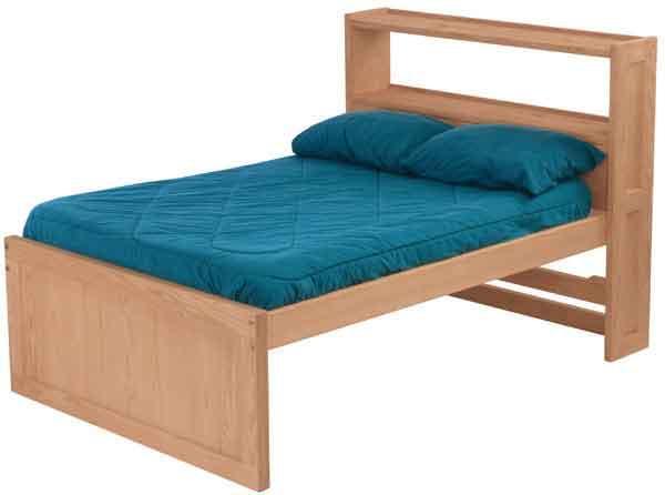 Twin Bed Storage Bookcase Headboard Drawers Shelf Bookshelves Guest Kids Table