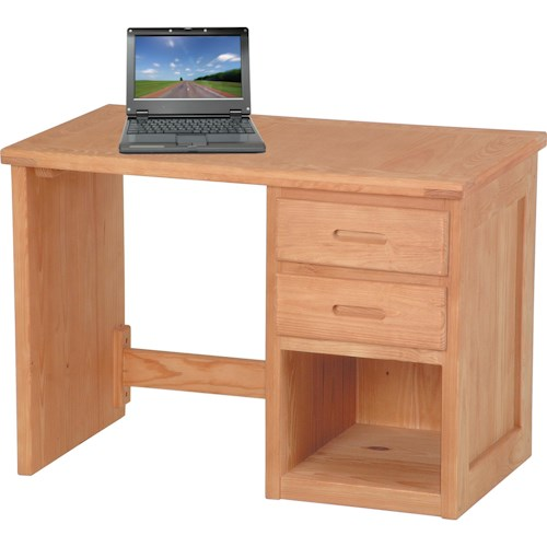 Crate Designs Pine Bedroom Casual 2-Drawer Desk