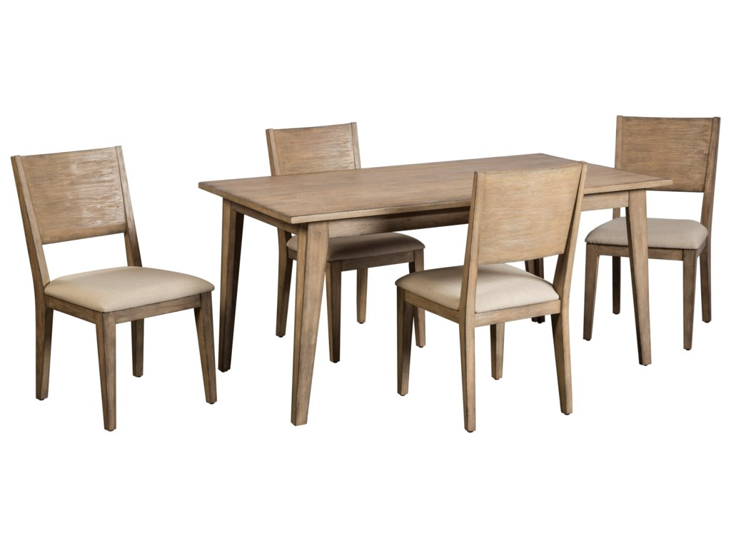 Cresent Fine Furniture Anders 5 Piece Table and Chair Set