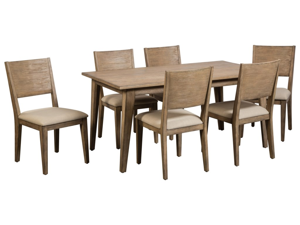 Cresent Fine Furniture Anders 7 Piece Table and Chair Set