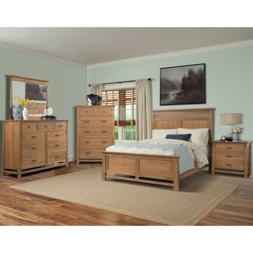 Cresent Fine Furniture Camden Queen Bedroom Group
