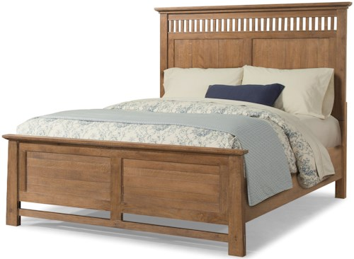 Cresent Fine Furniture Camden California King Panel Bed in Dry Oak Finish