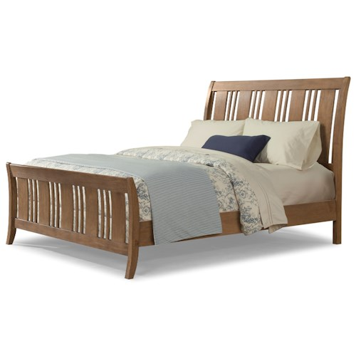 Cresent Fine Furniture Camden California King Sleigh Bed with Alternating Slats