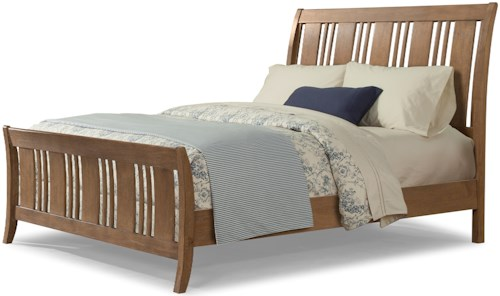 Cresent Fine Furniture Camden King Sleigh Bed with Alternating Slats