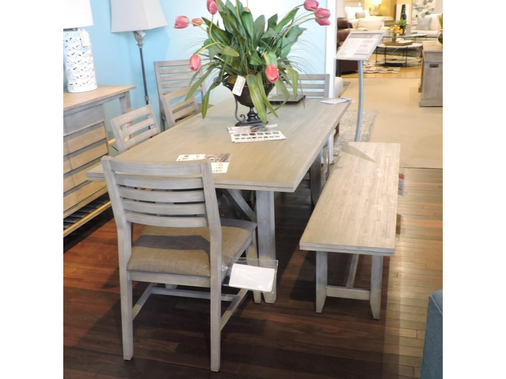 Cresent Fine Furniture ClearanceDining Table, 4 Side Chairs, Bench & Sideboa