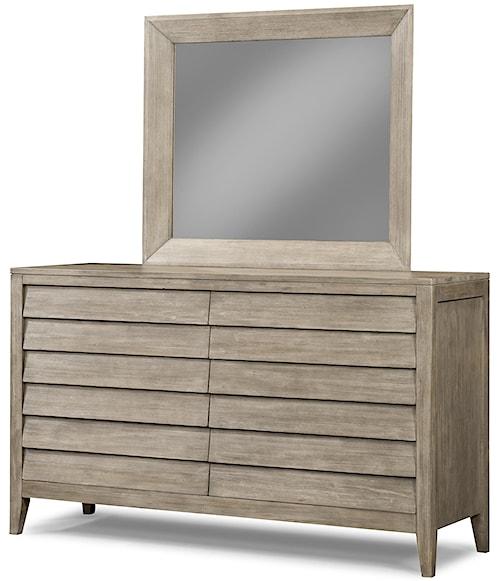 Cresent Fine Furniture Corliss Landing Dresser & Mirror