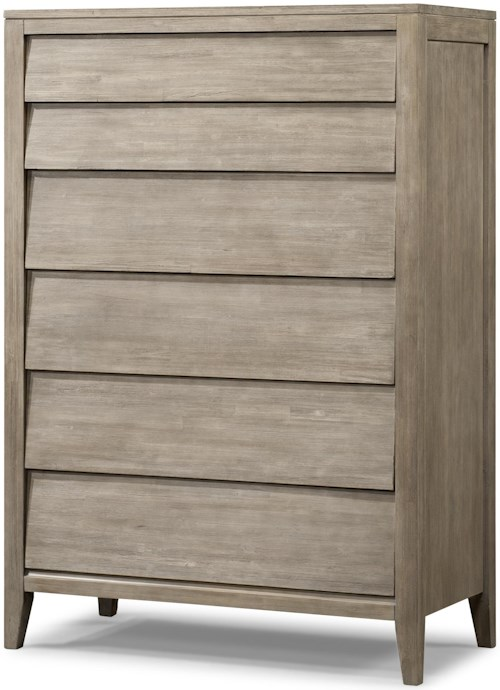 Cresent Fine Furniture Corliss Landing Tall Chest with 6 Drawers