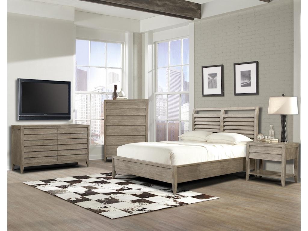 Cresent Fine Furniture Corliss LandingPowered Nightstand