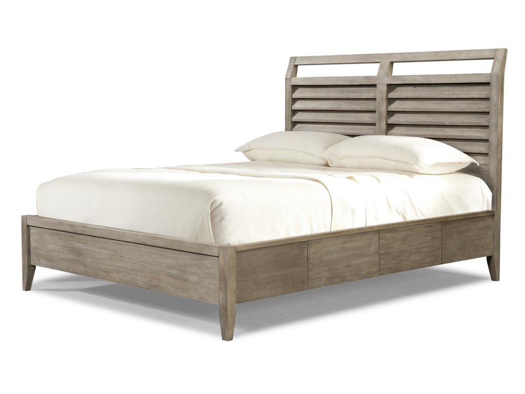 Cresent Fine Furniture Corliss LandingKing Louvered Panel Bed