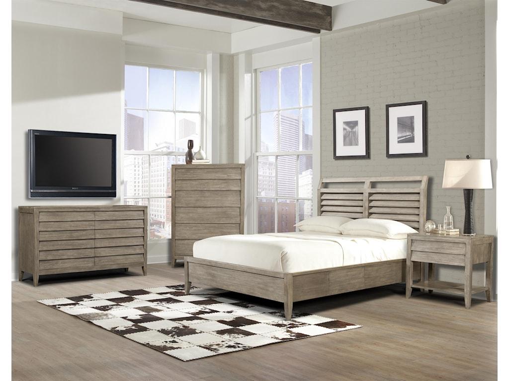Cresent Fine Furniture Corliss LandingKing Storage Bed