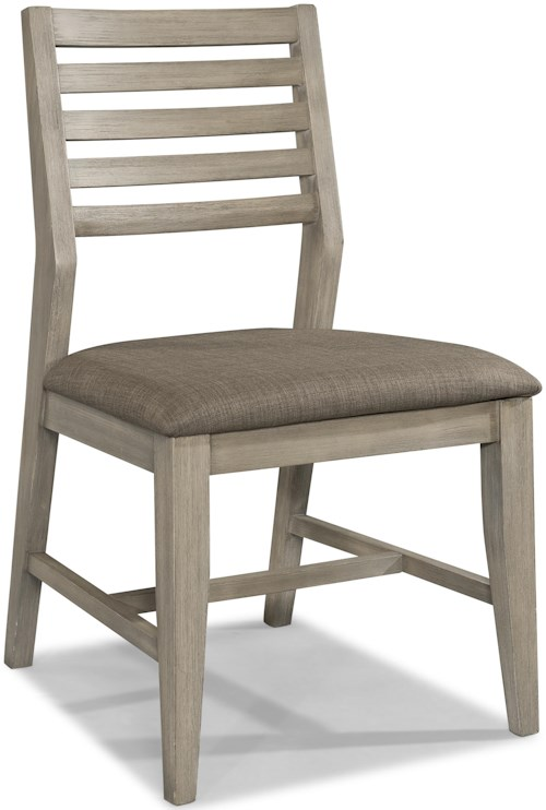Cresent Fine Furniture Corliss Landing Dining Side Chair w/ Upholstered Seat