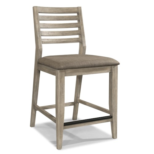 Cresent Fine Furniture Corliss Landing Counter Stool w/ Slat Back