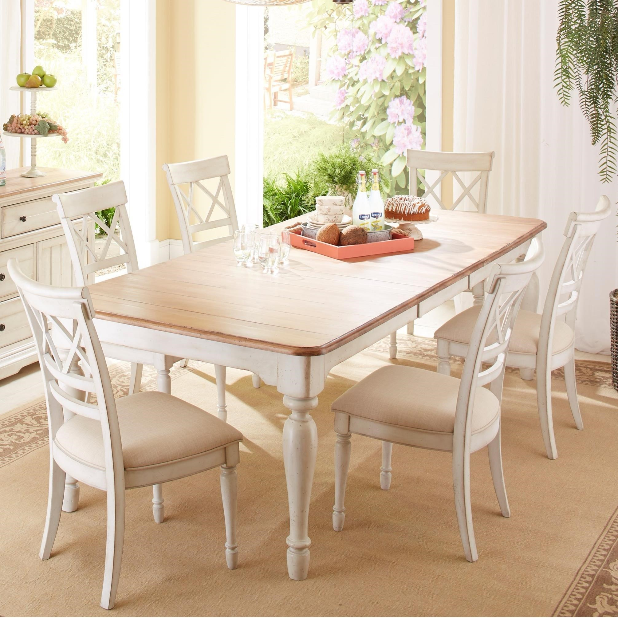 Cresent Fine Furniture Cottage7 Piece Table And Chair Set ...