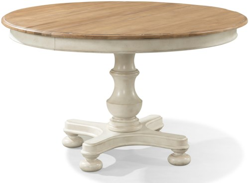 Cresent Fine Furniture Cottage Round Pedestal Table In Two