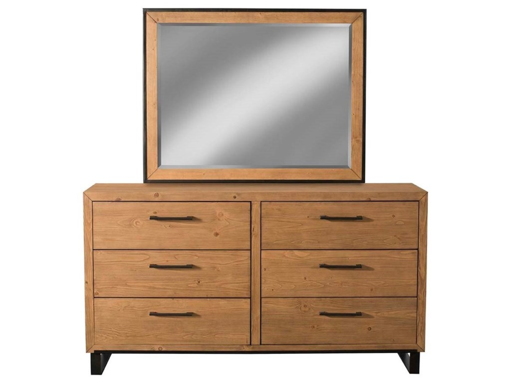 Cresent Fine Furniture EdgefieldDresser and Mirror Combo