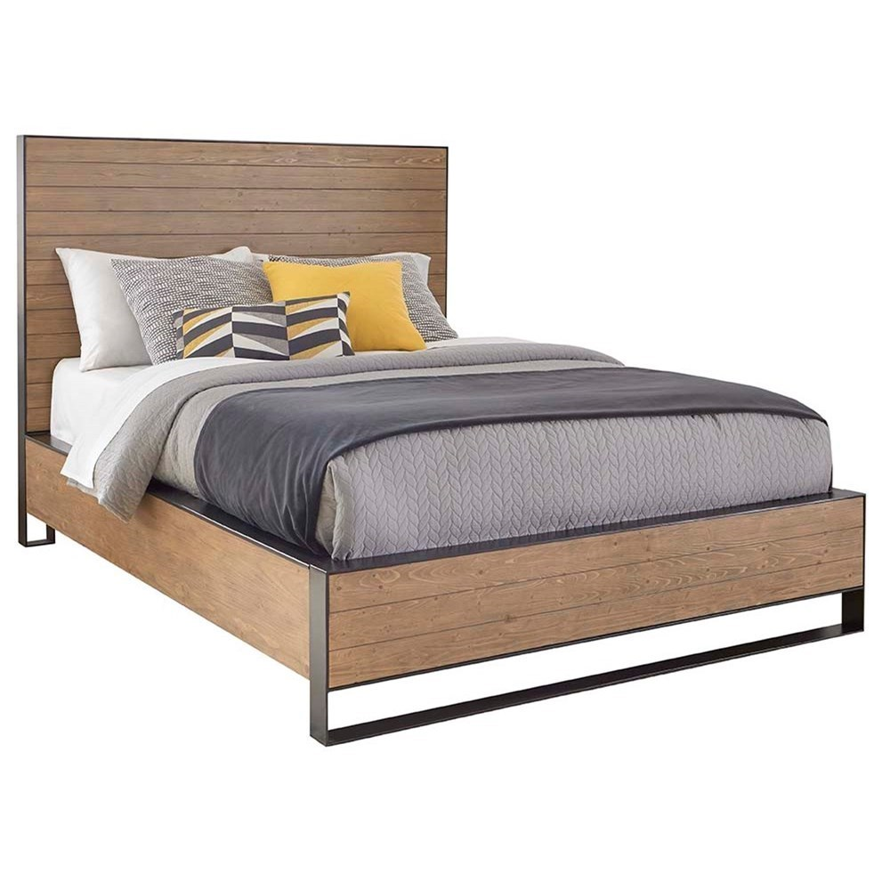 Cresent Fine Furniture Edgefield Queen Panel Bed With Steel Framing