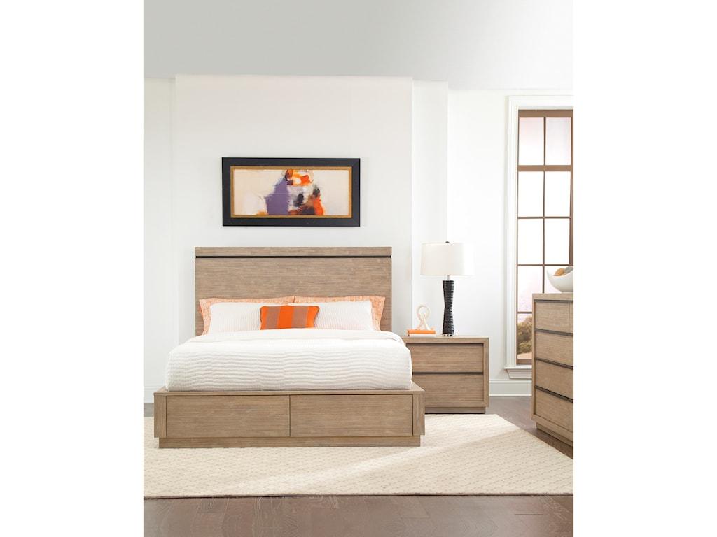 Cresent Fine Furniture Larkspur Queen Storage Platform Bed with 2 ...