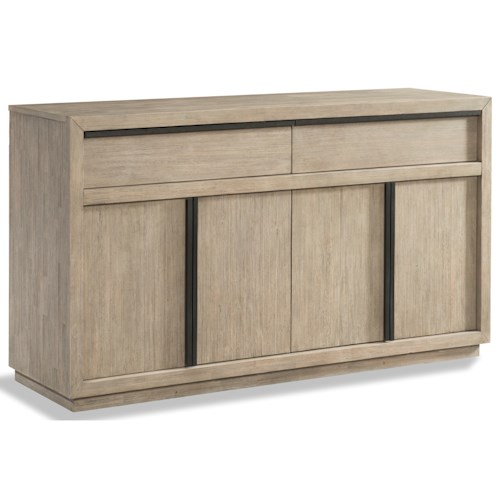 Cresent Fine Furniture Larkspur Dining Credenza with 2 Adjustable Shelves