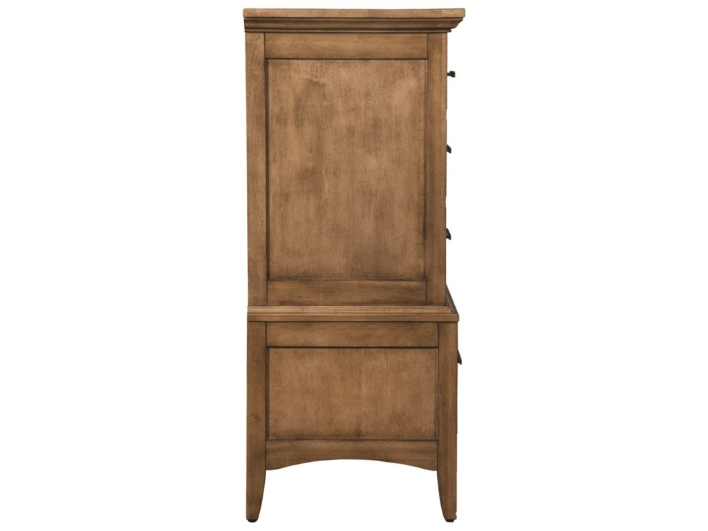 Cresent Fine Furniture LockelandMedia Dresser and Mirror Combo