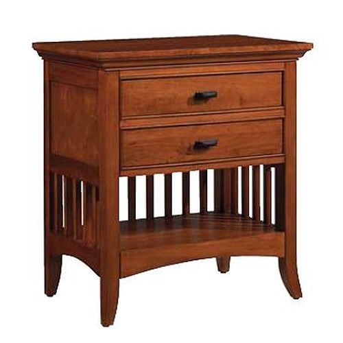 Cresent Fine Furniture Cresent Classics - Modern Shaker Two Drawer Night Stand