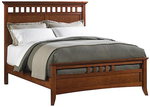 Cresent Fine Furniture Cresent Classics - Modern Shaker Full-Size Slat Panel Bed