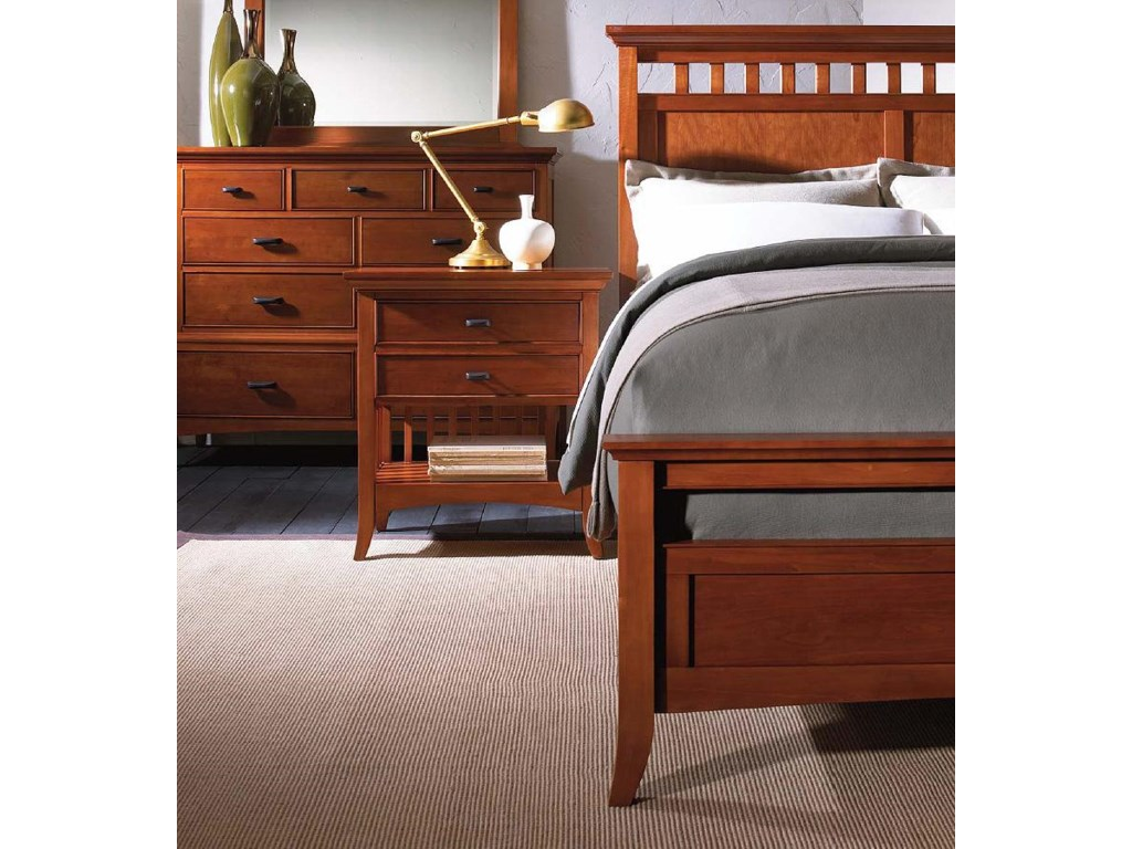 Cresent Fine Furniture Cresent Classics - Modern ShakerFull Panel Bed