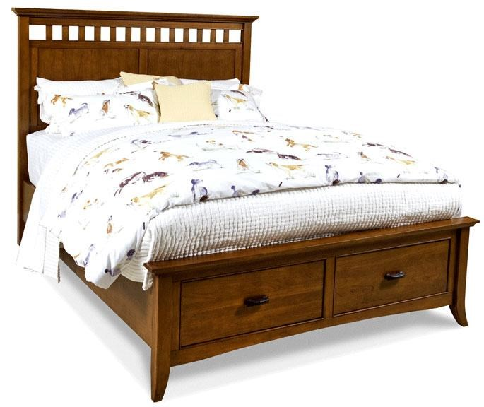 modern shaker furniture. cresent fine furniture classics modern shaker king slat panel storage bed with 2 drawers
