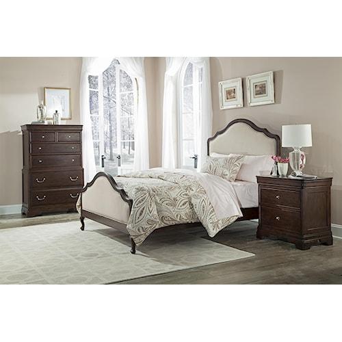 Cresent Fine Furniture Provence King Bedroom Group 3