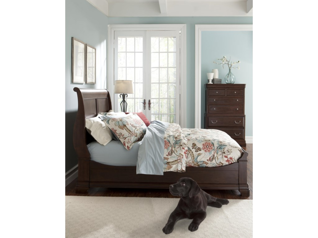 Cresent Fine Furniture ProvenceKing Sleigh Bed w/ Storage