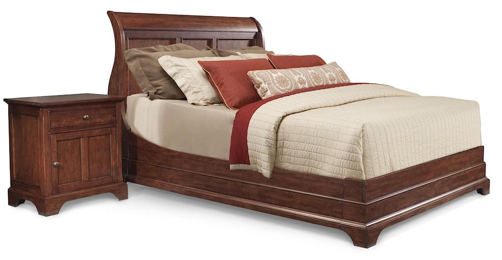 Cresent fine furniture retreat cherryqueen sleigh bed