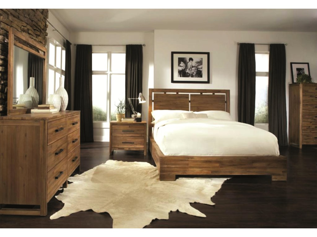 Cresent Fine Furniture WaverlyQueen Low Profile Bed