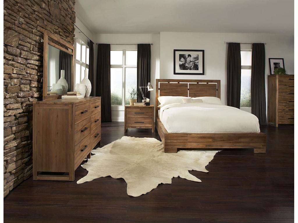 Cresent Fine Furniture WaverlyQueen Low Profile Bed w/ Storage
