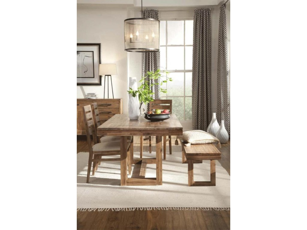 Shown with Trestle Table, Dining Bench, and Buffet