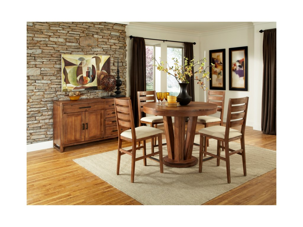 Cresent Fine Furniture Waverly5 Piece Counter Height Table and Chair Set