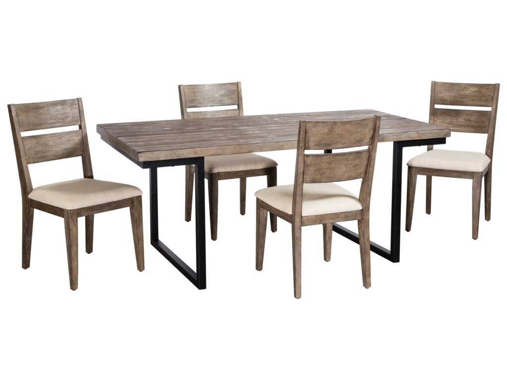 Cresent Fine Furniture West End5 Piece Table and Chair Set