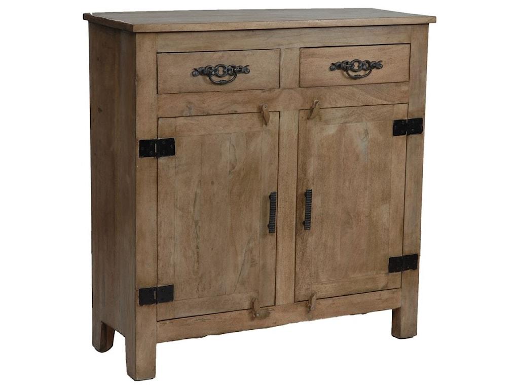 Crestview Collection Accent FurnitureBengal Manor Mango Wood Grey Cabinet