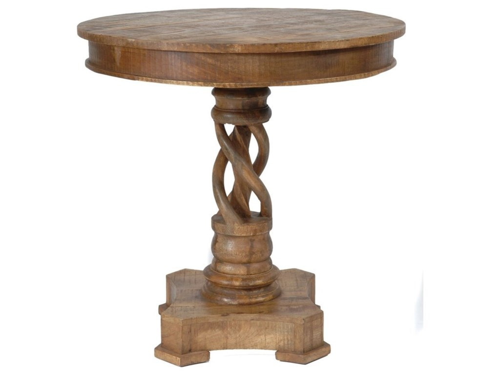 Crestview Collection Accent FurnitureBengal Manor Mango Wood Twist Accent Table