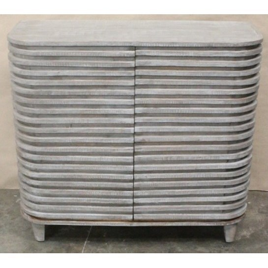 Crestview Collection Accent Furniture Bengal Manor Mango Wood Curved Slat  Cabinet   Great American Home Store   Accent Chests