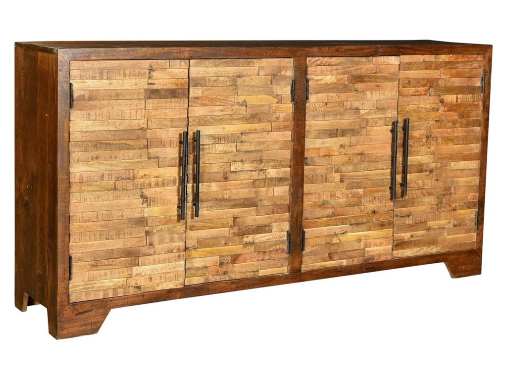 Crestview Collection Accent FurnitureBengal Manor Mango Wood Random Strips Sidebo