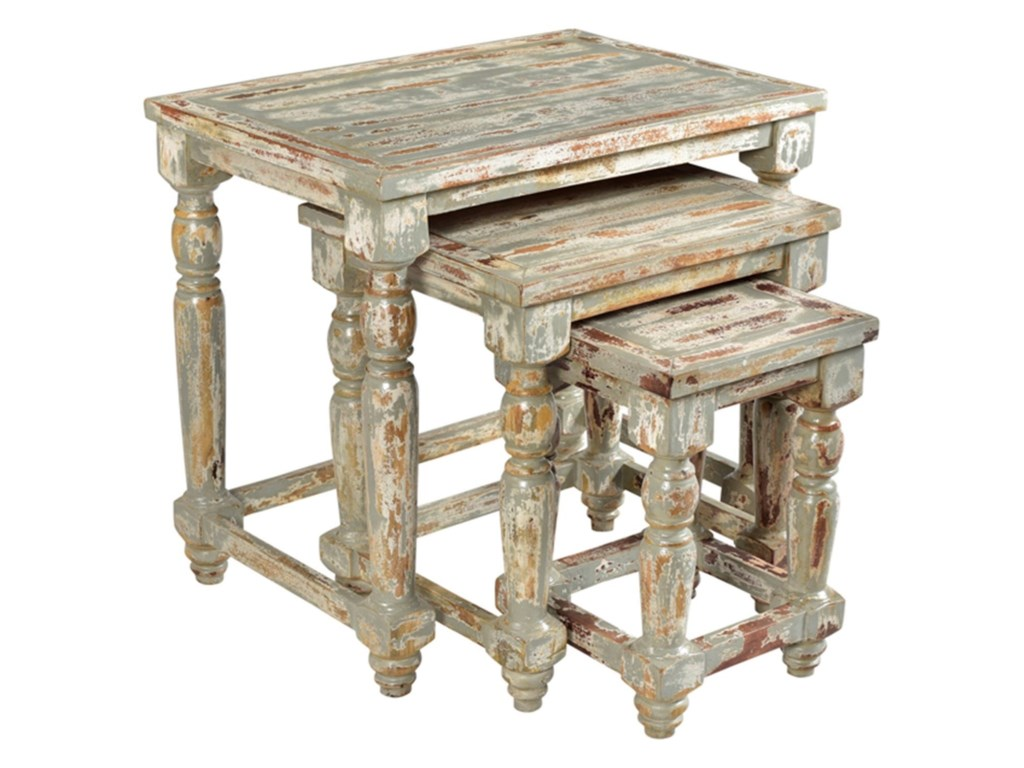 Crestview Collection Accent FurnitureBengal Manor Mango Wood Distressed Grey Set