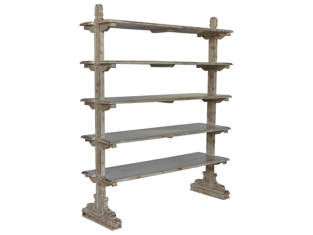 Crestview Collection Accent FurnitureBengal Manor Mango Wood 5 Tier Aged Ash Open