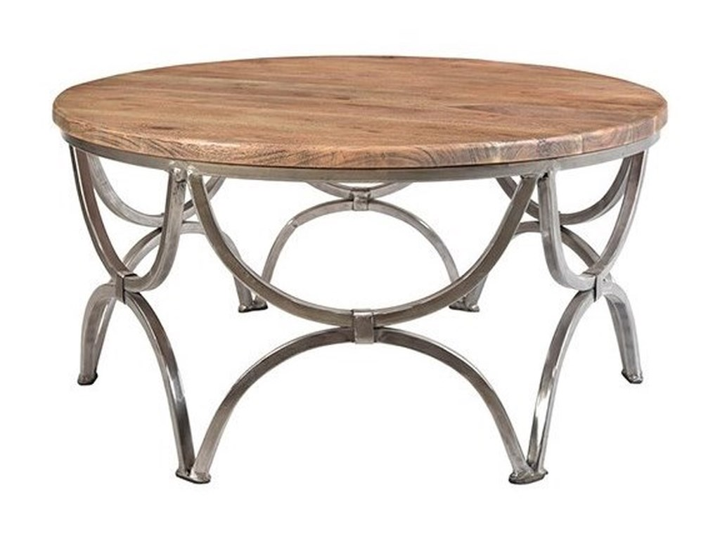 Crestview Collection Accent FurnitureBengal Manor Mango Wood and Steel Round Cock