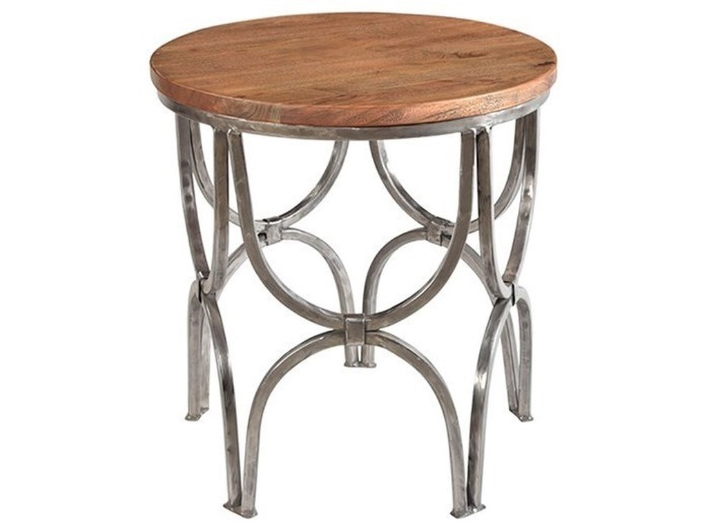 Crestview Collection Accent FurnitureBengal Manor Mango Wood and Steel Round End