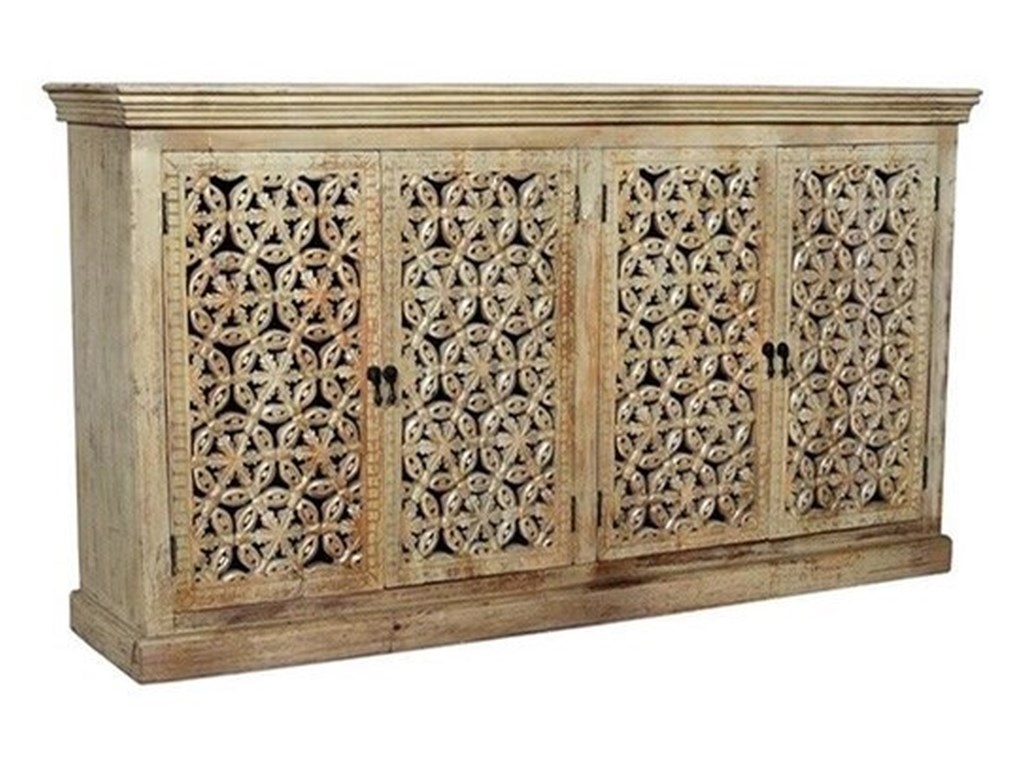 Crestview Collection Accent FurnitureMango Wood 4 Door Sideboard