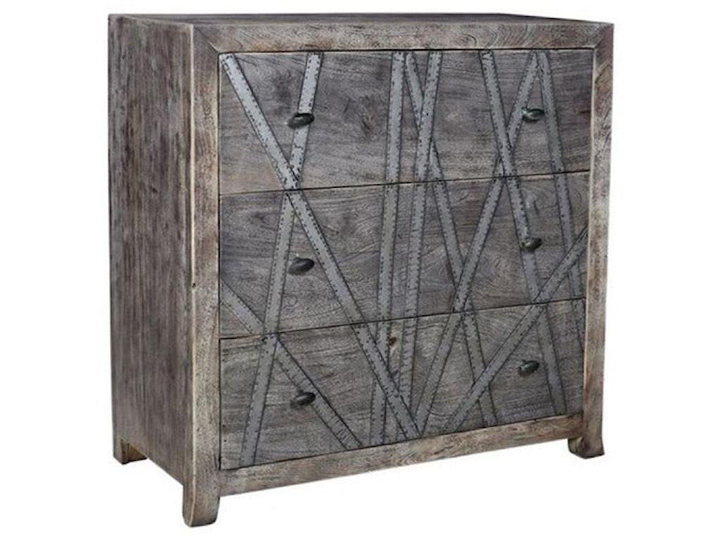 Crestview Collection Accent FurnitureMango Wood 3 Drawer Chest