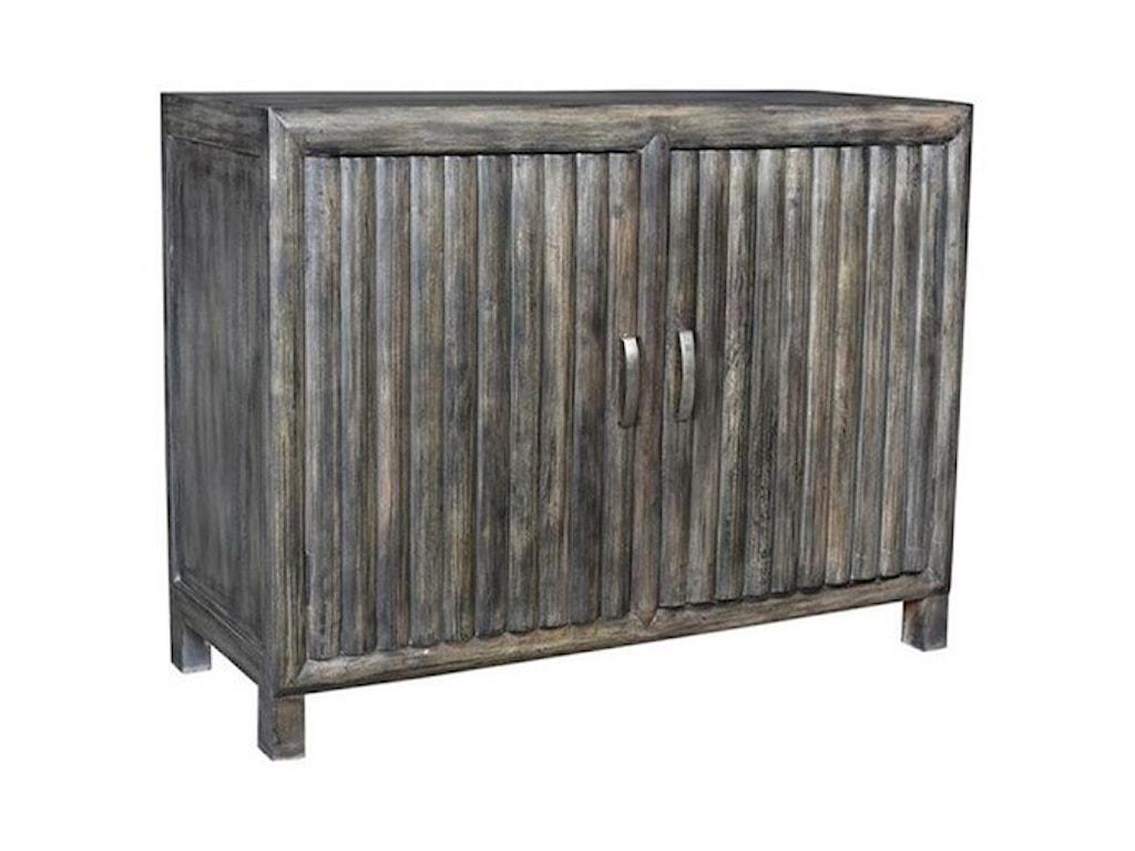 Crestview Collection Accent FurnitureMango Wood 2 Door Grey Cabinet