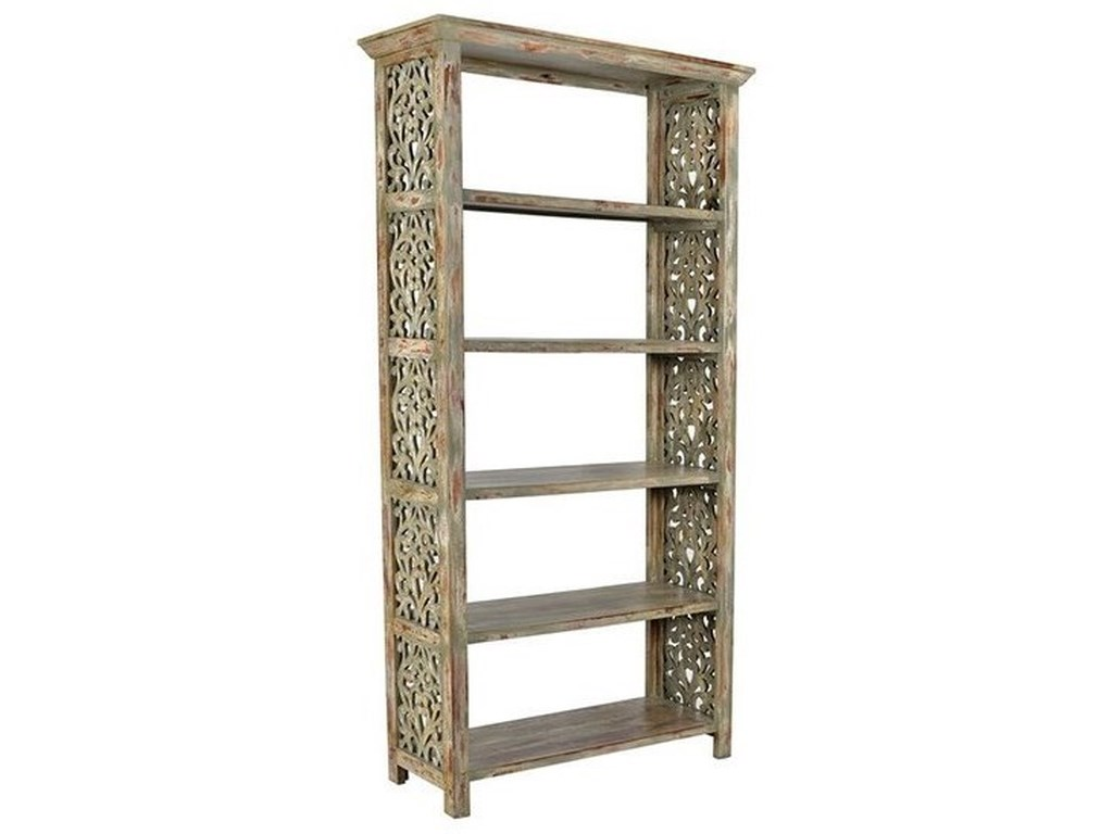 Crestview Collection Accent FurnitureMango Wood Side Panel Etagere